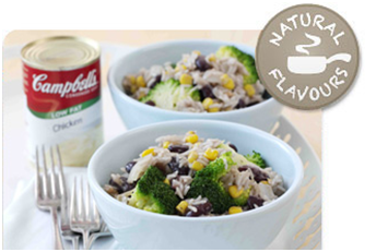 Gary Rhodes' Braised Rice with Sweetcorn and Broccoli using Campbell's Soup