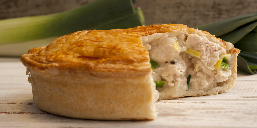 Chicken pie with chicken soup sauce