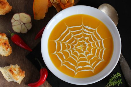 Campbell's Spiderweb Soup in Bowl