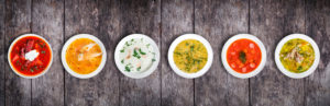 What are the different types of soup?