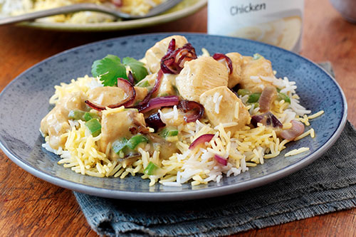 Creamy Shortcut Chicken And Vegetable Biryani